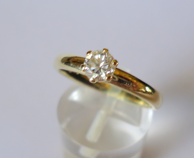 C 0006 Solitair briljant ring